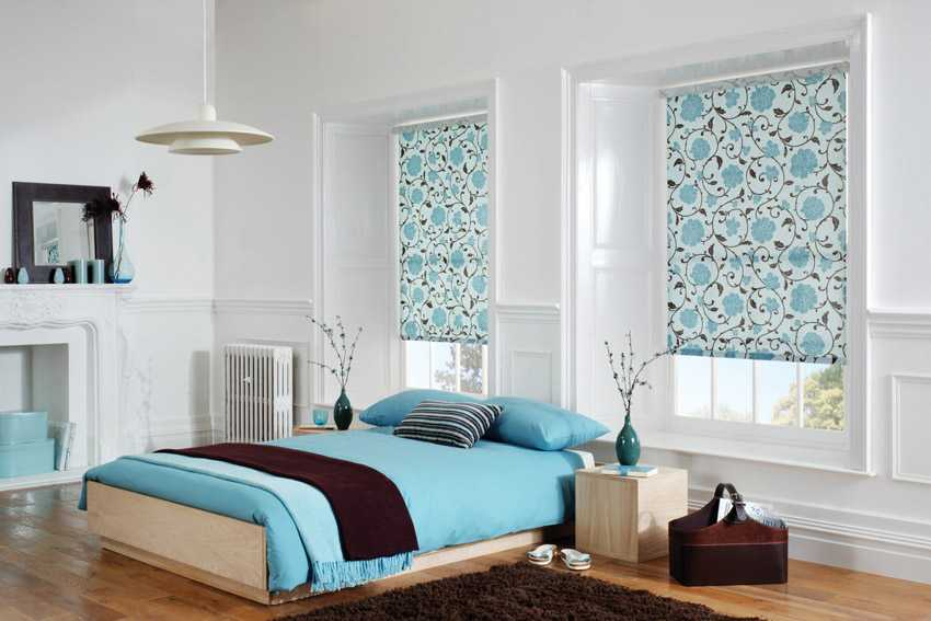 prinetd roller blinds for window furnishinig