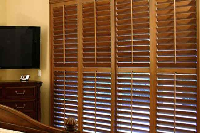 Wooden Blinds Window Office